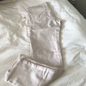 NWT AG size 29 straight-leg jeans in cream